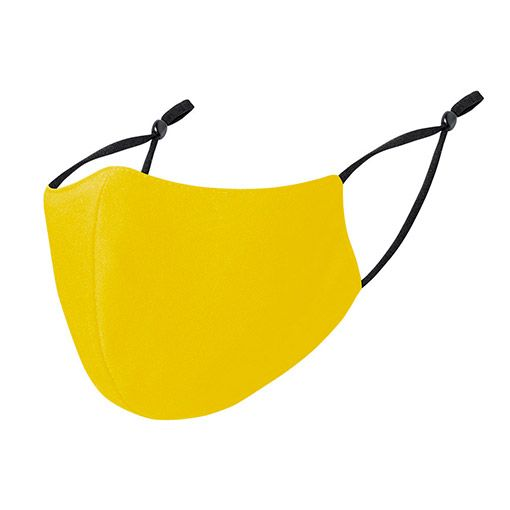 Mascarillas higiénicas reutilizables, ajustables, amarillo