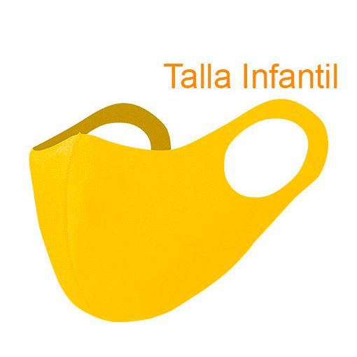 Mascarillas higiénicas reutilizables, Soft Shell, amarillo
