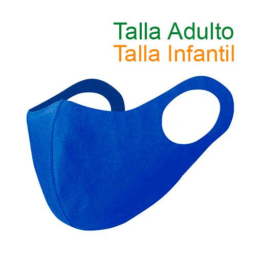 Mascarillas higiénicas reutilizables, Soft Shell, azul