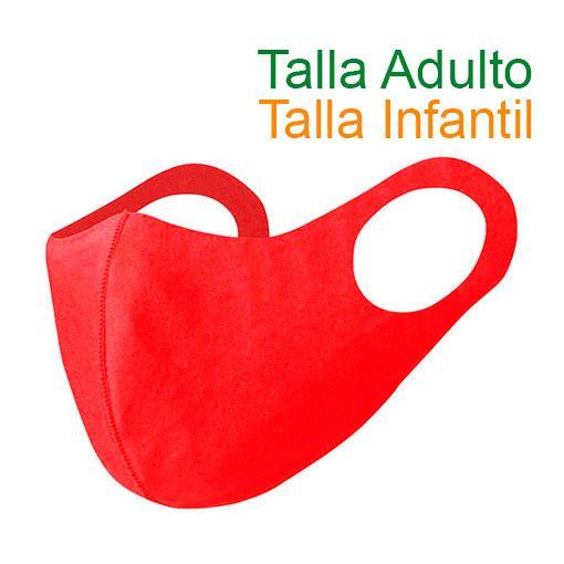 Mascarillas higiénicas reutilizables, Soft Shell, rojo