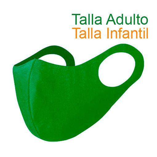 Mascarillas higiénicas reutilizables, Soft Shell, verde