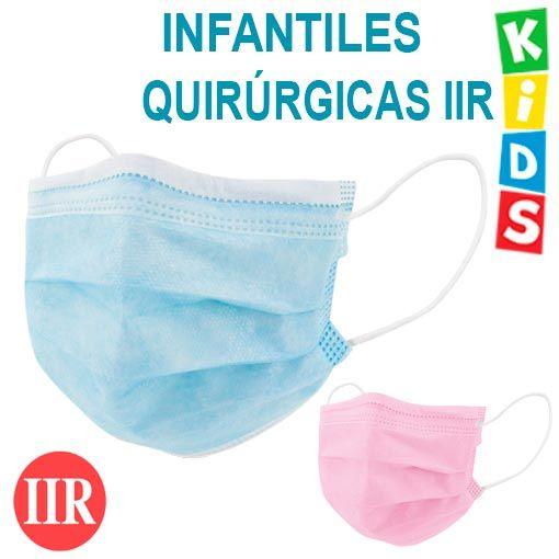 Mascarillas infantiles quirúrgicas IIR