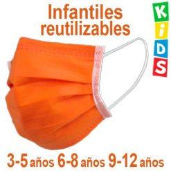 Mascarillas infantiles reutilizables para niños, en 3 tallas distintas