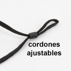 Mascarillas reutilizables con filtro recambiable, cordones ajustables
