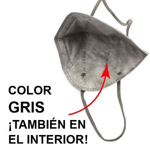 Mascarillas FFP2 negras, interior gris
