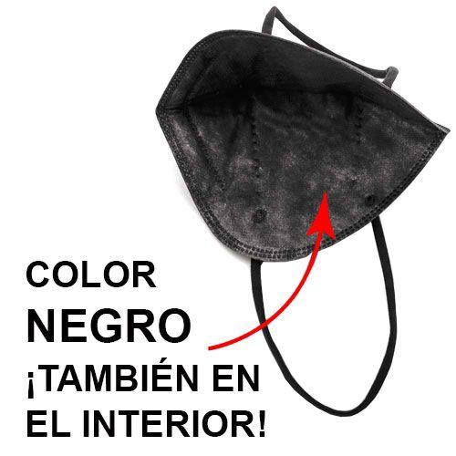 Mascarillas FFP2 negras, interior negro