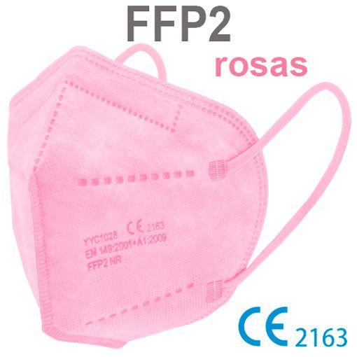 Mascarillas FFP2 rosas, con marcado CE