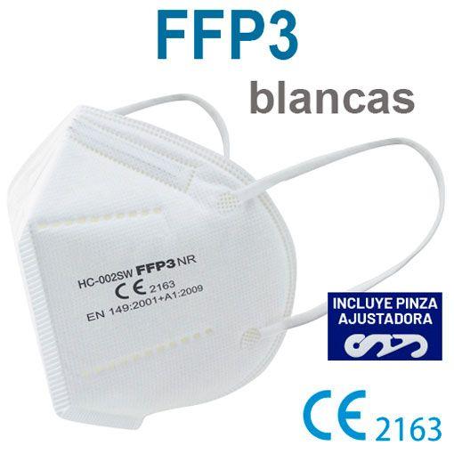Mascarillas FFP3 blancas