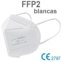 Mascarillas FFP2 blancas, con marcado CE