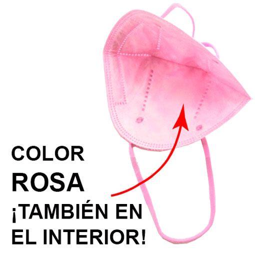 Mascarillas FFP2 negras, interior rosa