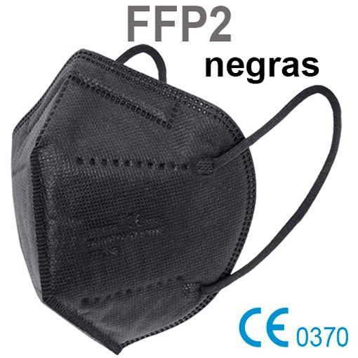 Mascarillas FFP2 negras, con marcado CE