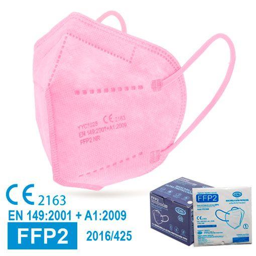Mascarillas FFP2 rosas, con marcado CE, normativa