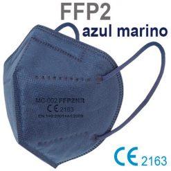 Mascarillas FFP2 azul marino