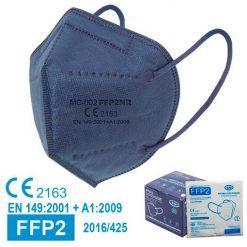 Mascarillas FFP2 azul marino, homologadas