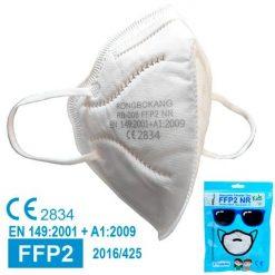 Mascarillas FFP2 niños homologadas, color blanco