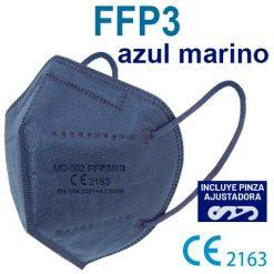 Mascarillas FFP3 azul marino