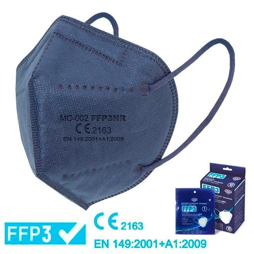 Mascarillas FFP3 azul marino homologadas