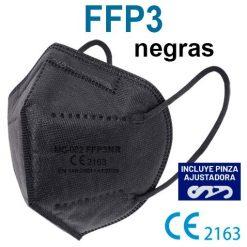 Mascarillas FFP3 negras