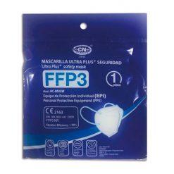 Mascarillas FFP3 negras, bolsa individual