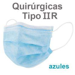 Mascarillas quirúrgicas IIR azules