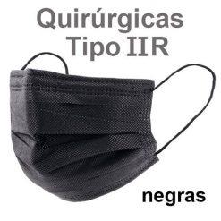 Mascarillas quirúrgicas IIR negras