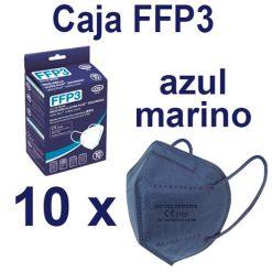Caja mascarillas FFP3 azul marino
