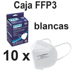 Caja mascarillas FFP3 blancas