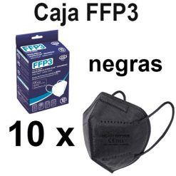 Caja mascarillas FFP3 negras