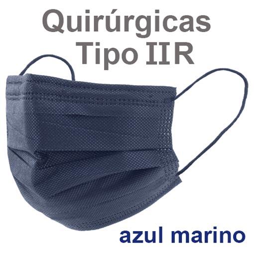 Mascarillas quirúrgicas IIR azul marino