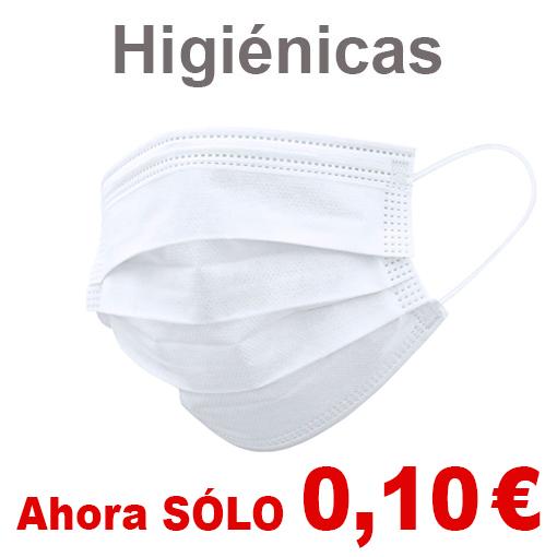Mascarillas higiénicas